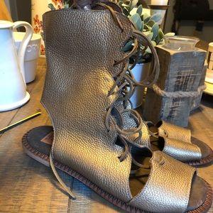 Like New Jim Barnier Leather Gladiator Sandals